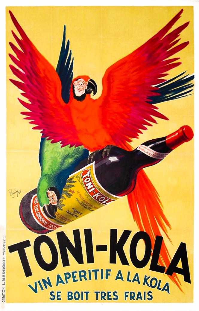 Robys Toni Cola Vin apéritif à la Kola - Se boit très frais Original Poster Barcelona
