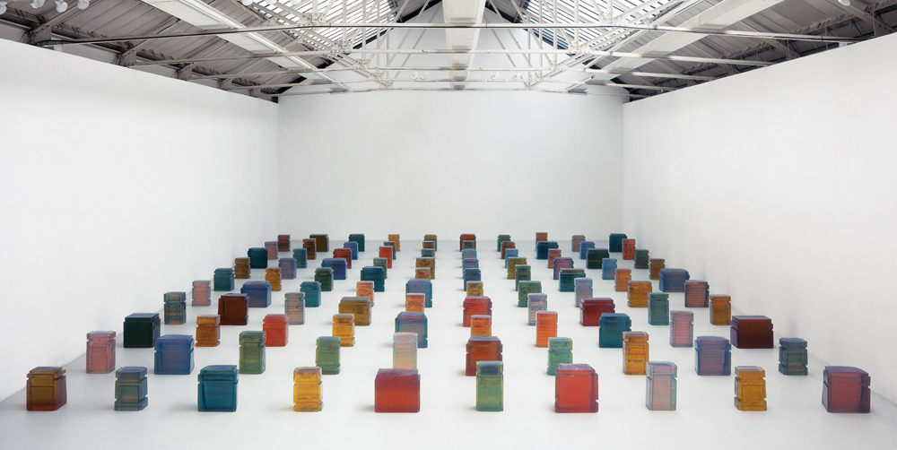 Untitled (One Hundred Spaces) 1995 Resin (100 units)