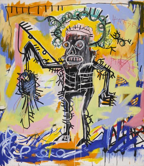 Jean-Michel Basquiat, « Untitled » 1981, image ©Bridges Museum of American Art