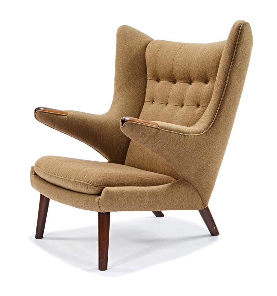 "Hans J. Wegner. ""Papa chair"" 1951-53."