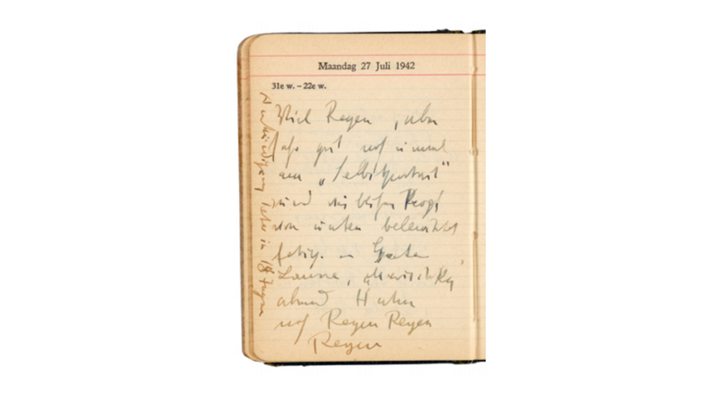 Max Beckmann's diary with notes about the painting. Image courtesy of Grisebach