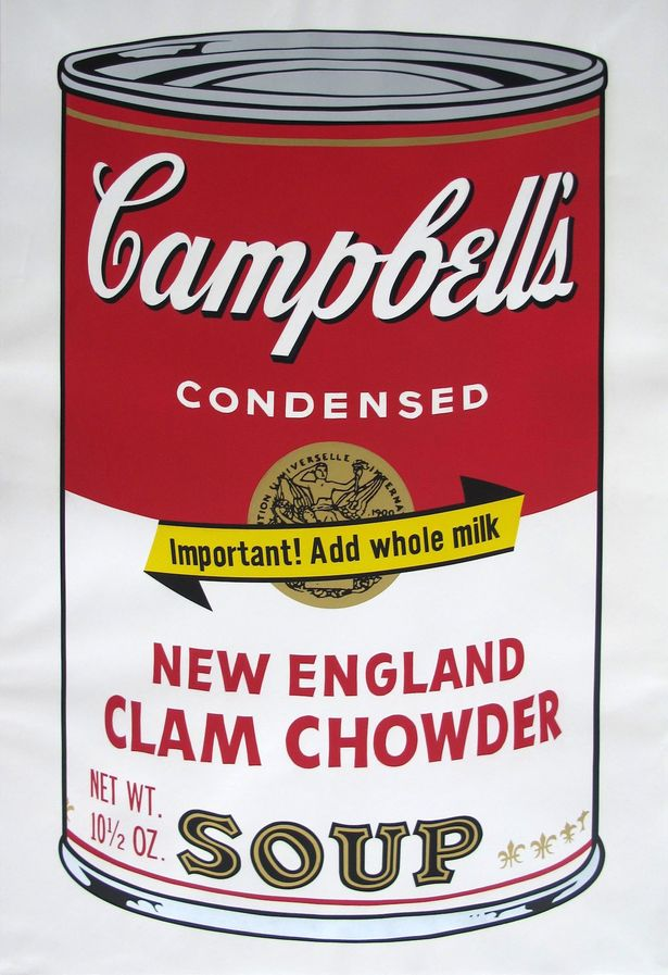 Andy Warhols Cambell's soup can.