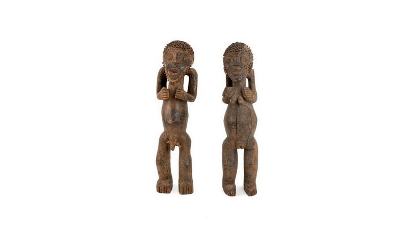 """Statuette di arte africana """"tadep dia"""" della Cultura Mambila"""