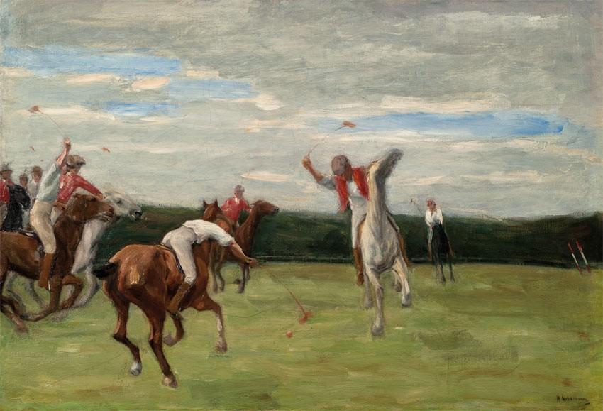 MAX LIEBERMANN - Polospieler in Jenischs Park, Öl/Lwd., 71 x 102 cm, 1903, Privatbesitz Abb. via kunsthalle-bremen.de