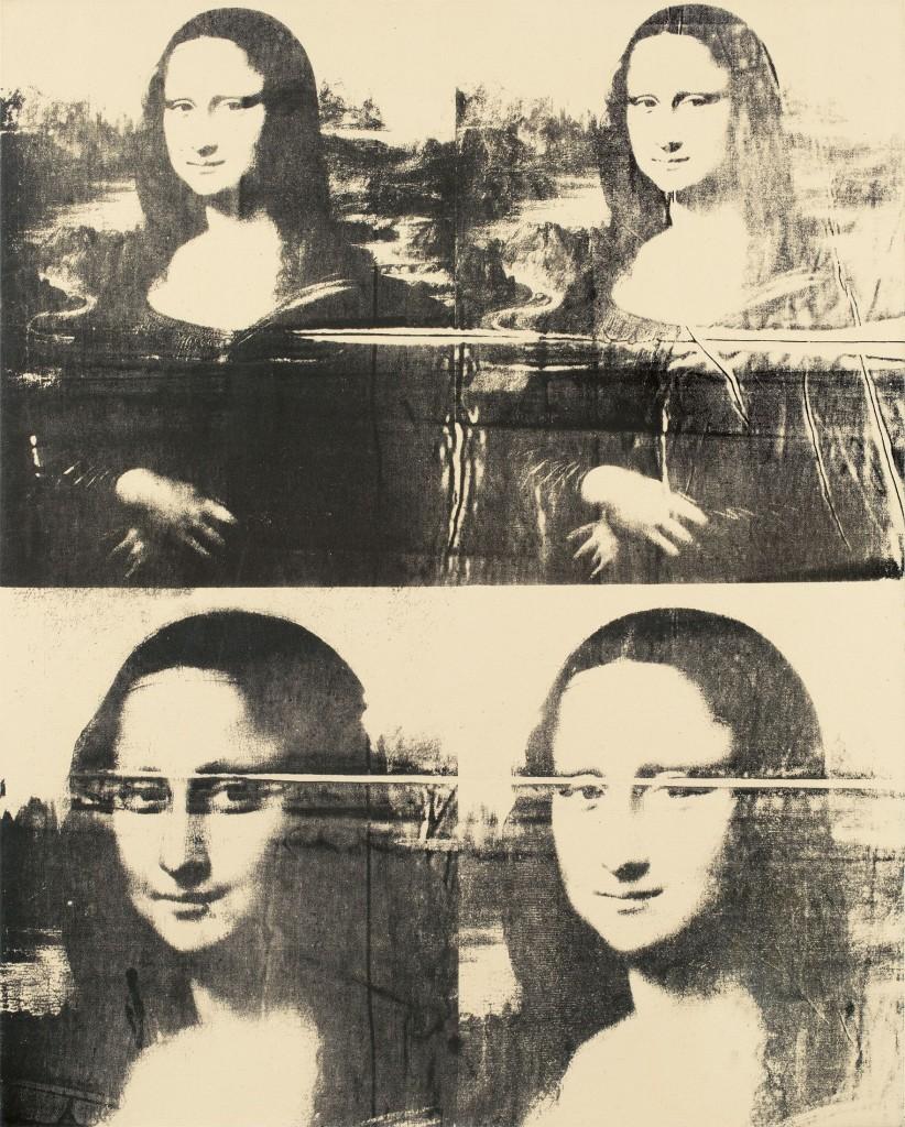 ANDY WARHOL (Pittsburgh 1928 - 1987 New York) - Mona Lisa (Four Times), Silkscreen ink / Lwd., Circa 1979 ANDY WARHOL (Pittsburgh 1928 - 1987 New York) , cira1979