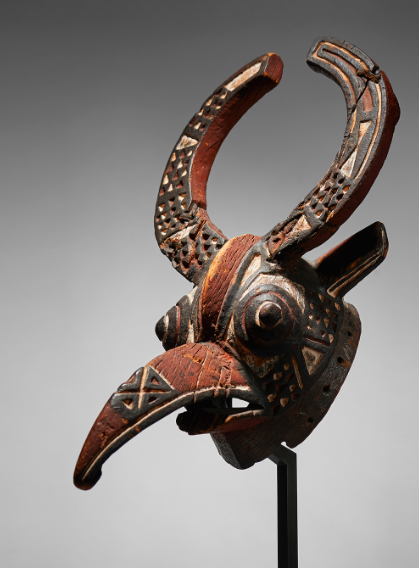 Mask Bwa, bird, wood from Burkina Faso. Image: Native