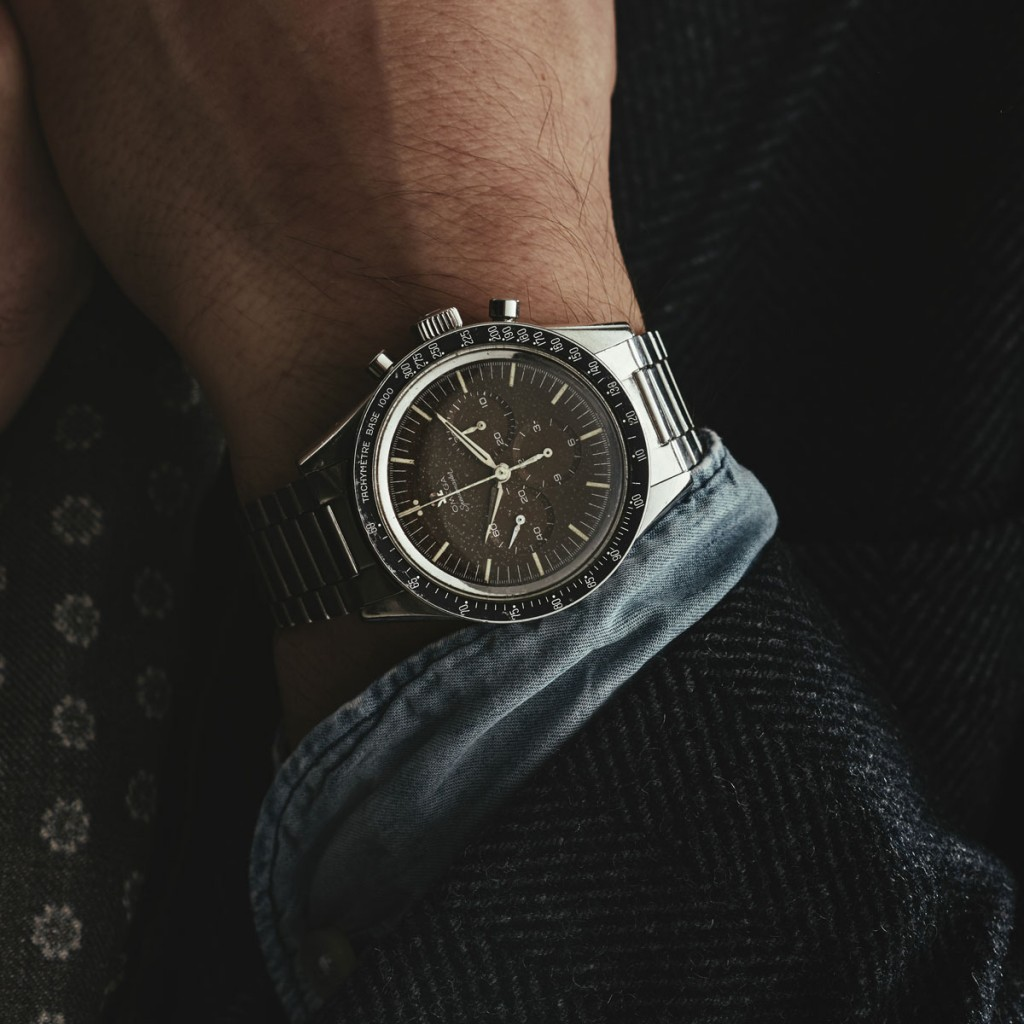 "Todays Wristshot: OMEGA, Speedmaster, ""Tachymètre - Base 1000"", ""Naiad Crown"", Cal 321, LOT2(photo:kaplans.se)"