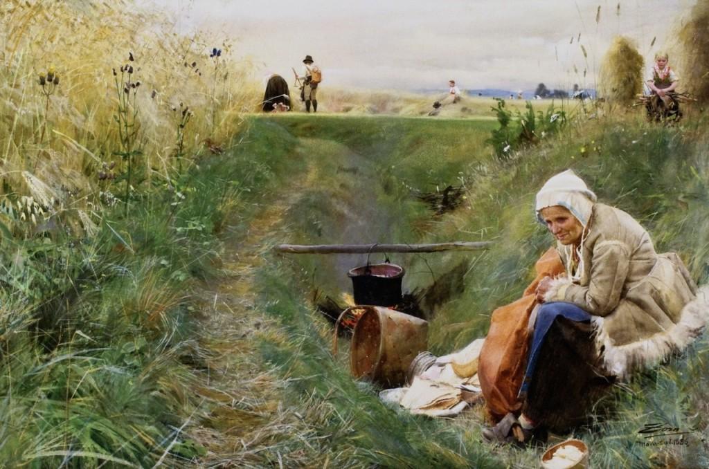 Vårt dagliga bröd, 1886. Bild Nationalmuseum.