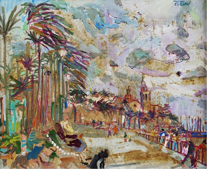 """MIQUEL CABANAS I ALIBAU (Barcelona, 1926-1995). """"Sitges"""""""