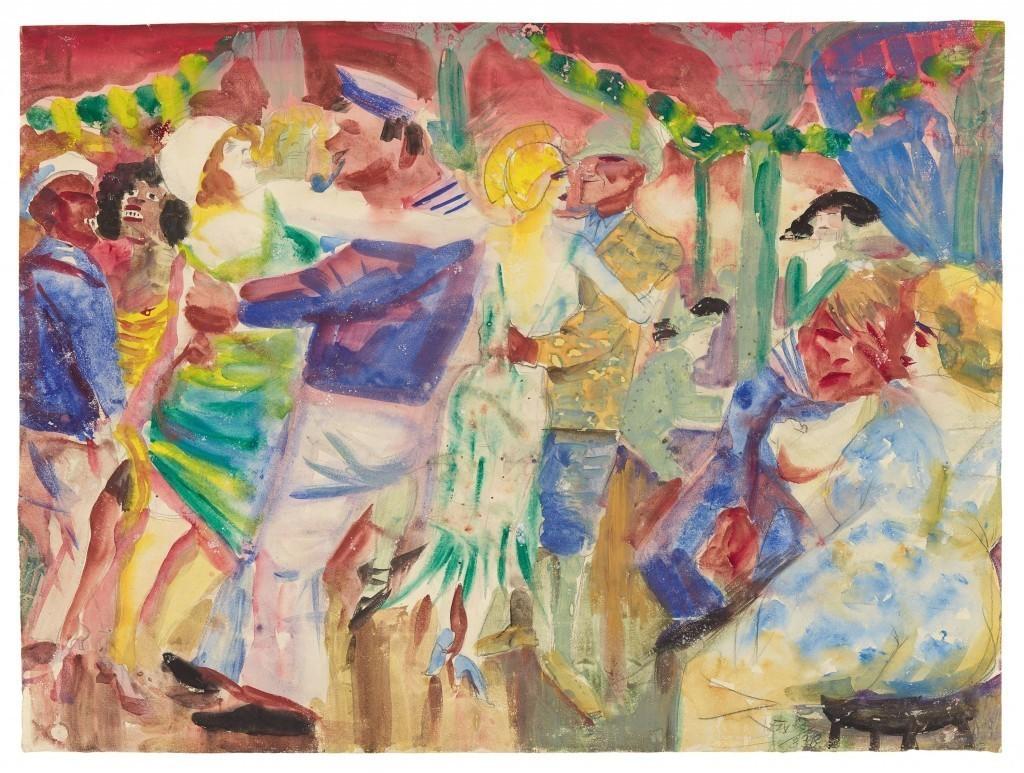 Otto Dix, « Dance Hall à St. Pauli », 1925, image ©Grisebach