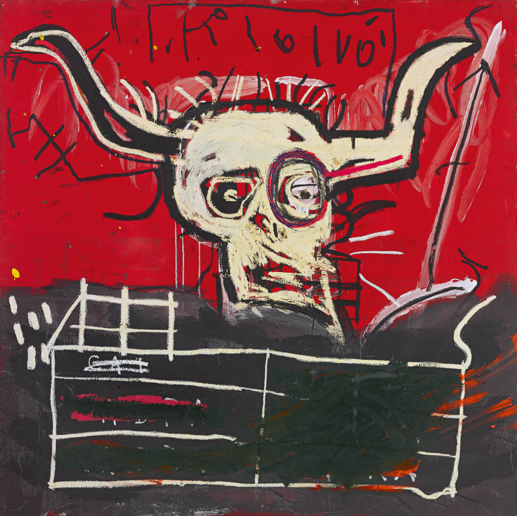 Jean-Michel Basquiat, Cabra, Collection de Yoko Ono Estimation: 9 - 12 millions de dollars