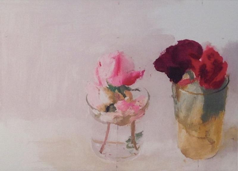 """Antonio López obra """"Rosas de Invierno I"""""""