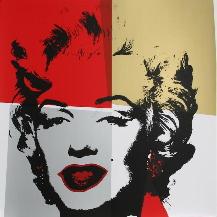 ANDY WARHOL. Marilyn II (Serigraph, stamped verso by Sunday B. Morning) Estimate $1,200 - $1,500. Photo via RoGallery Auctions