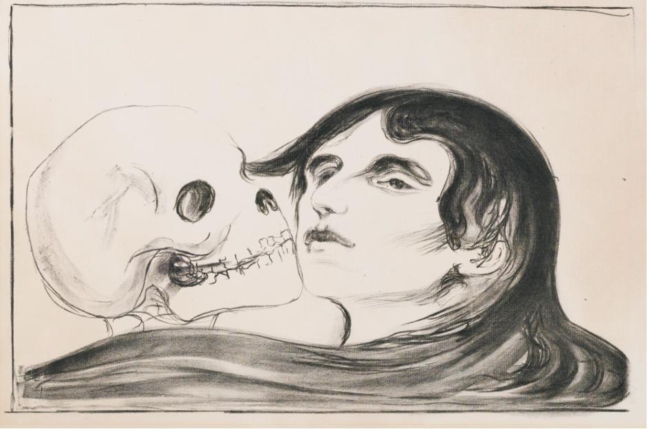 Edvard Munch. Dödens kyss. Utropspris: 187 000 SEK.