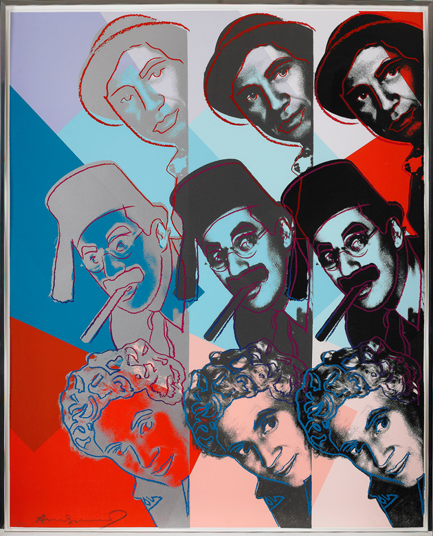 Andy Warhol, Bröderna Marx, grafikauktion, Stockholms Auktionsverk, Fredrik Fellbom
