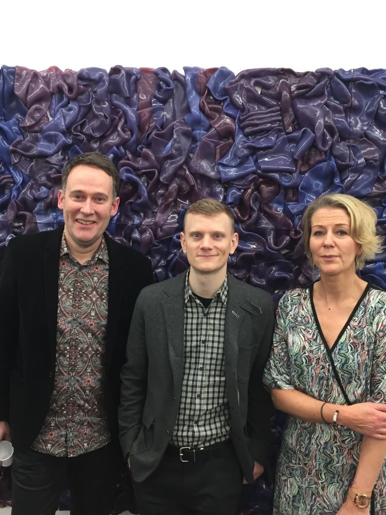 Matthias van Arkel, Rick Herron från NY och galleristen Cecilia Hillström.