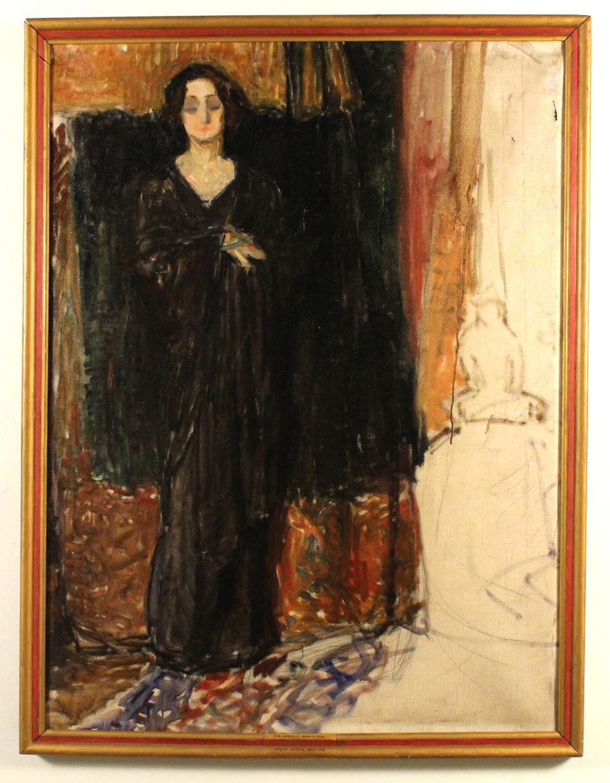 Dieses unvollendete Damenportrait zeigt vermutlich Eva Mudocci, gemalt von Edvard Munch | Foto: St. Olaf College/Flaten Art Museum