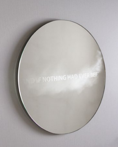 Jean-Baptiste Caron, And if Nothing Had Ever Been Miroir, traitement anti-buée, 2014 © Parcours Saint-Germain
