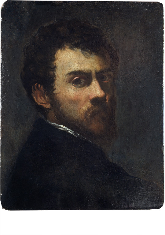 Jacopo Tintoretto, Self Portrait. 1548, oil on panel. Image: V&A Museum