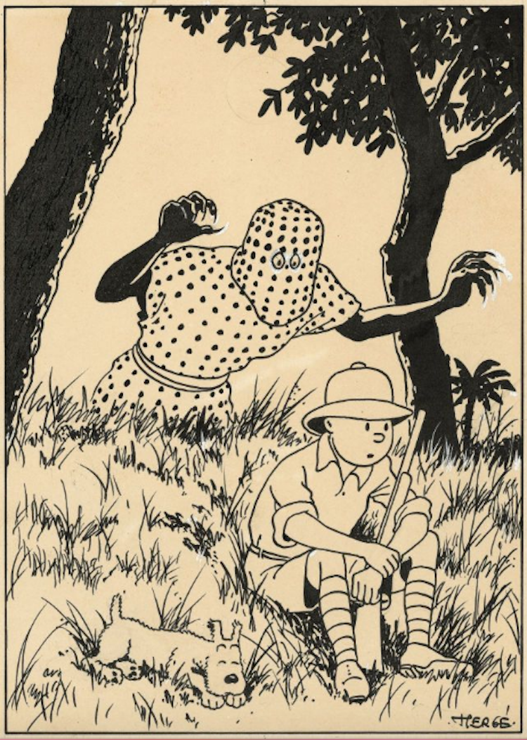 HERGÉ (Georges Remi dit) TINTIN AU CONGO Utrop: 2 790 000 SEK Artcurial