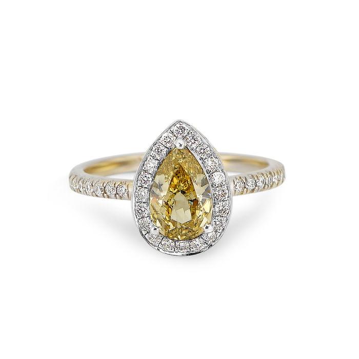 Diamantring, gul diamant 1,31 karat. Guld, 18 karat. Utropspris: 82 500 Sek. Catawiki
