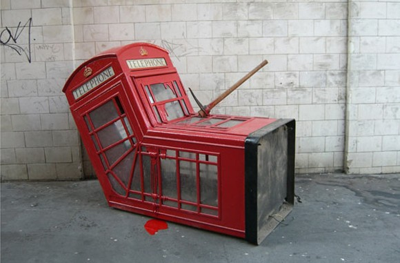 Vandalized Phone Box
