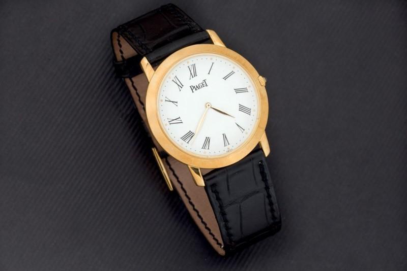 Lote 351: Reloj PIAGET en oro para caballero. Modelo Altiplano