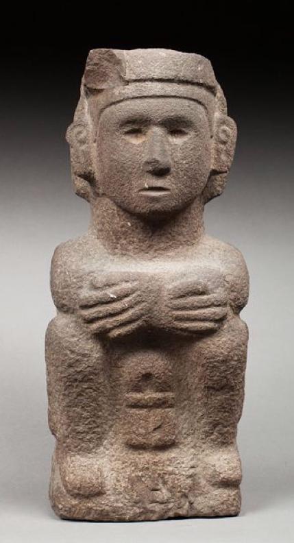 Importante statue masculine Aztèque, Mexique, 1400-1520 après JC. Origine Auction