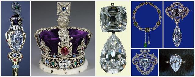 Le diamant Cullinan sur les bijoux royaux Image via orderofsplendor.blogspot.com