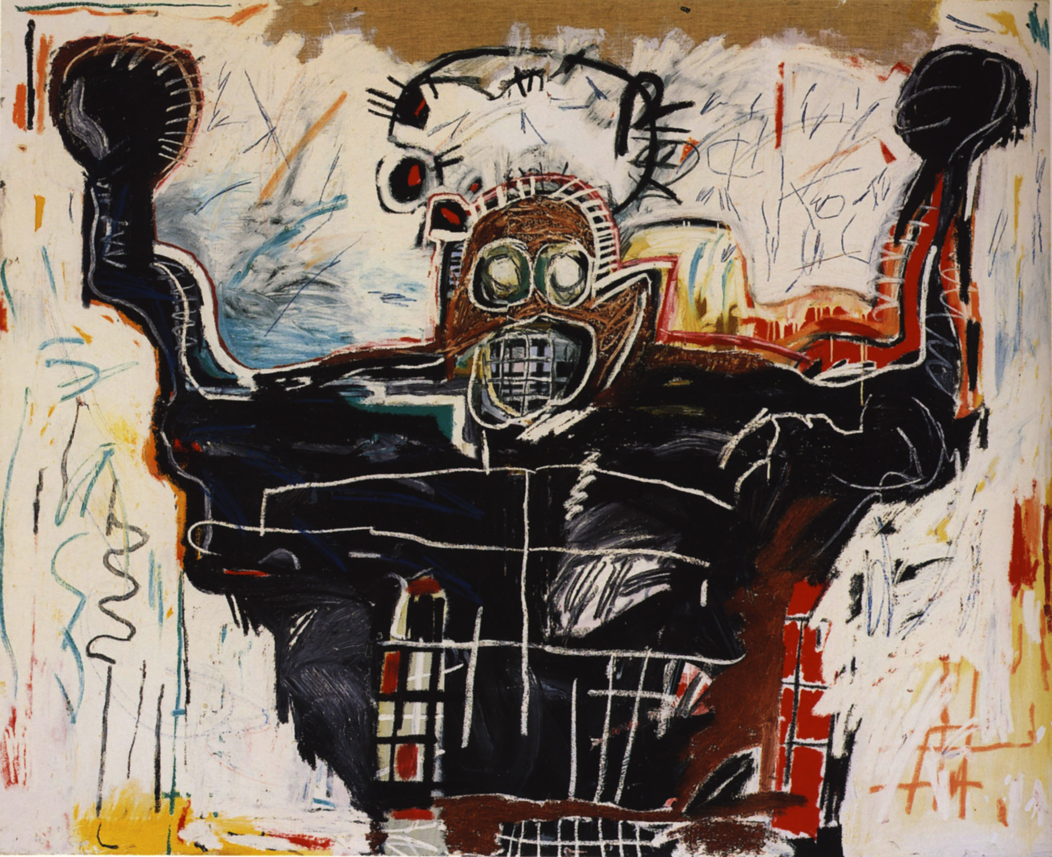 Jean-Michel Basquiat, Untitled (Boxer) Sold at Christie's for $13 522 500 2008 Post-War & Contemporary sale Image via Christie's