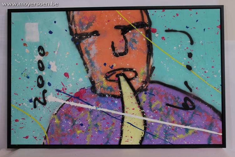 HERMAN BROOD - Me On Sax, Airbrush und Acryl auf Leinwand, signiert Startpreis: 2.400 EUR