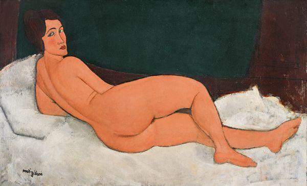 Amedeo Modigliani, 'Lying Nude', 1917