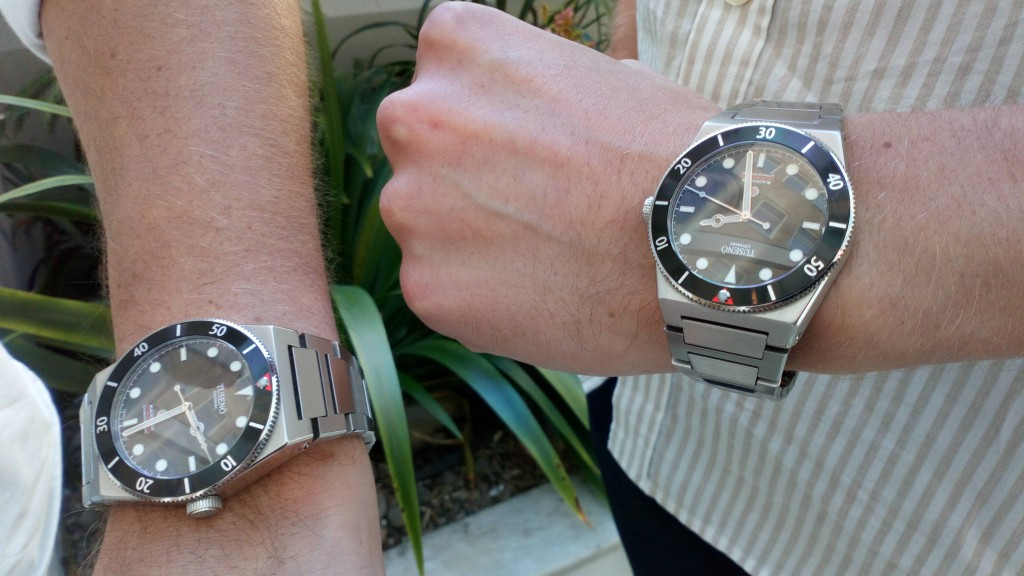 Todays Double Wristshot: Tusenö Blackwater, only 300 ex available. (photo: Johan Sehlstedt)