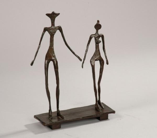 Diego GIACOMETTI (1902 - 1985)  Le couple, modèle circa 1957
