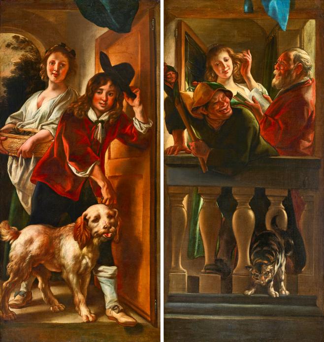 Deux tableaux de Jacob Jordaens (Flandres 1593-1678) Image via Uppsala Auktionskammare