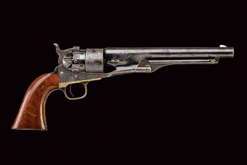 Väldigt sällsynt Colt Model 1860 Army Thuer's Conversion Revolver. Utrop: 120 000 SEK