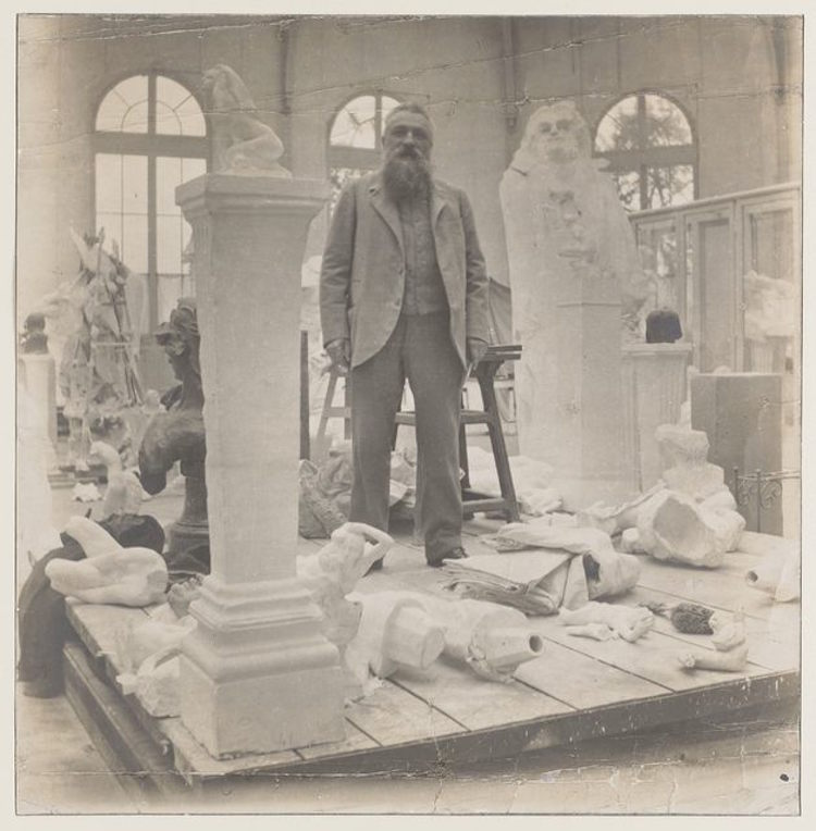 """Rodin among his works at the Pavillon de l'Alma), c. 1902 """"The Laboratory of Creation"""" at Musée Rodin (2014-2015)"""