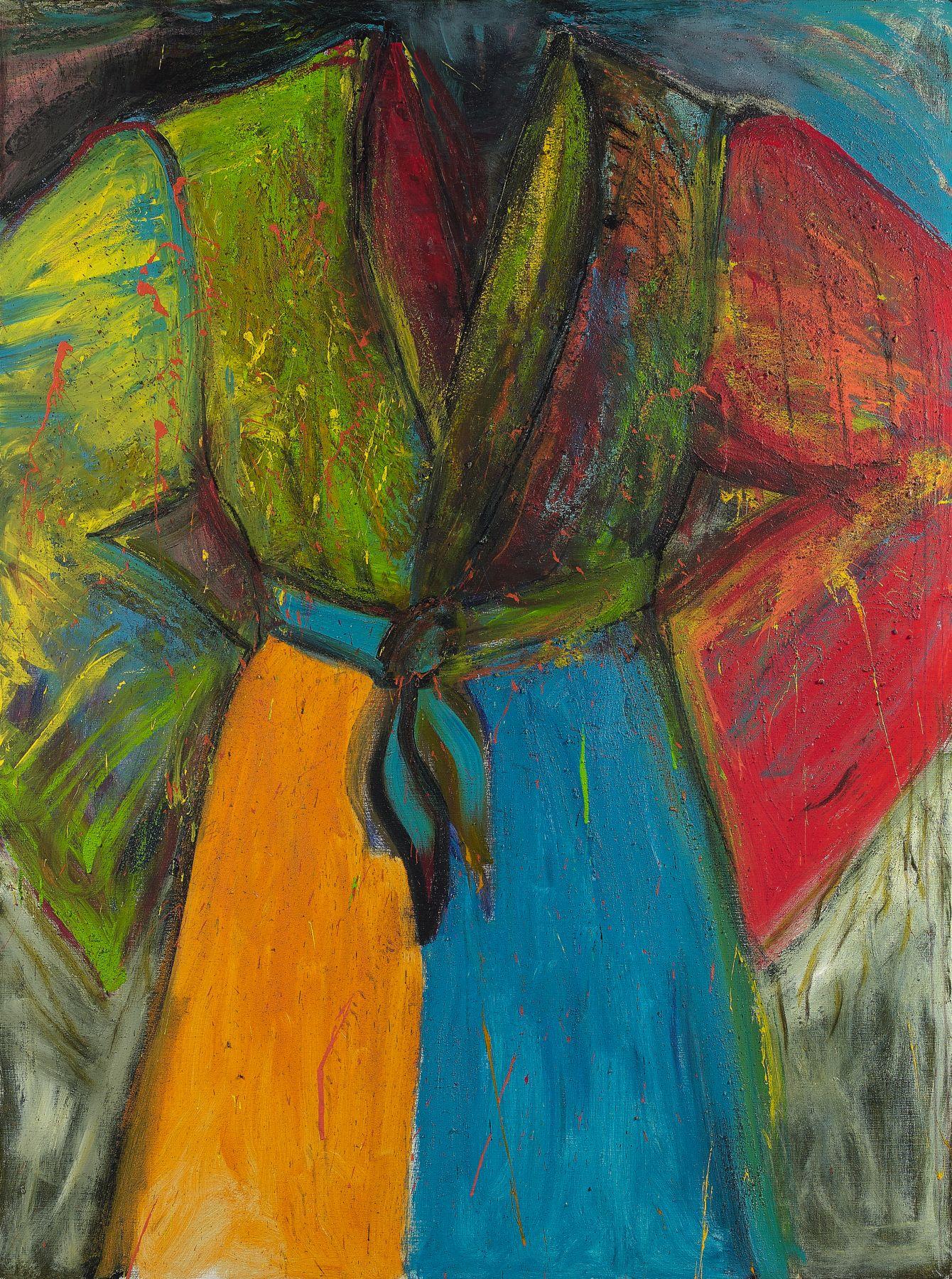 Jim Dine (Né en 1935)  The Crack at dawn - 2008 Acrylique, fusain et sable sur toile