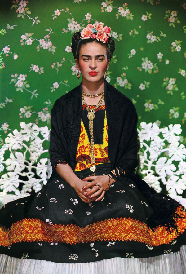 Frida on a Bench, Nikolas Murray. 1939, carbon print. Image: Nikolas Murray Photo Archives
