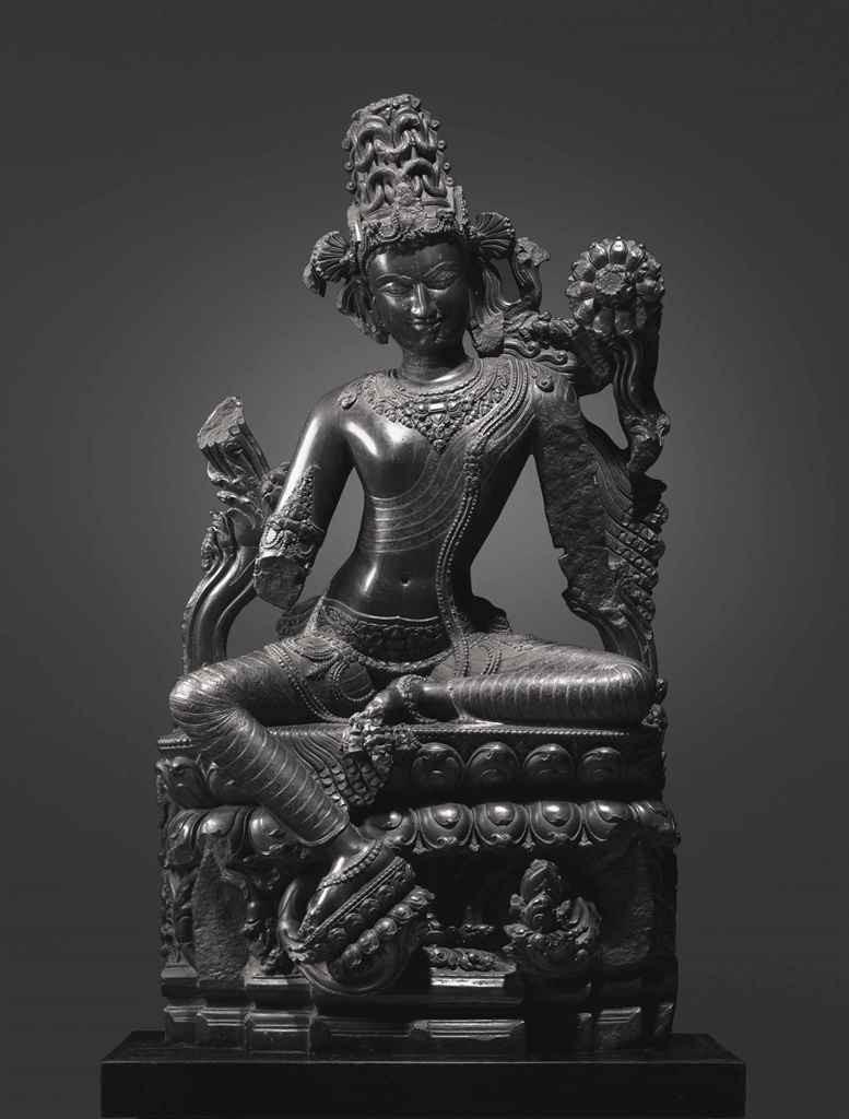 Indian black stone figure