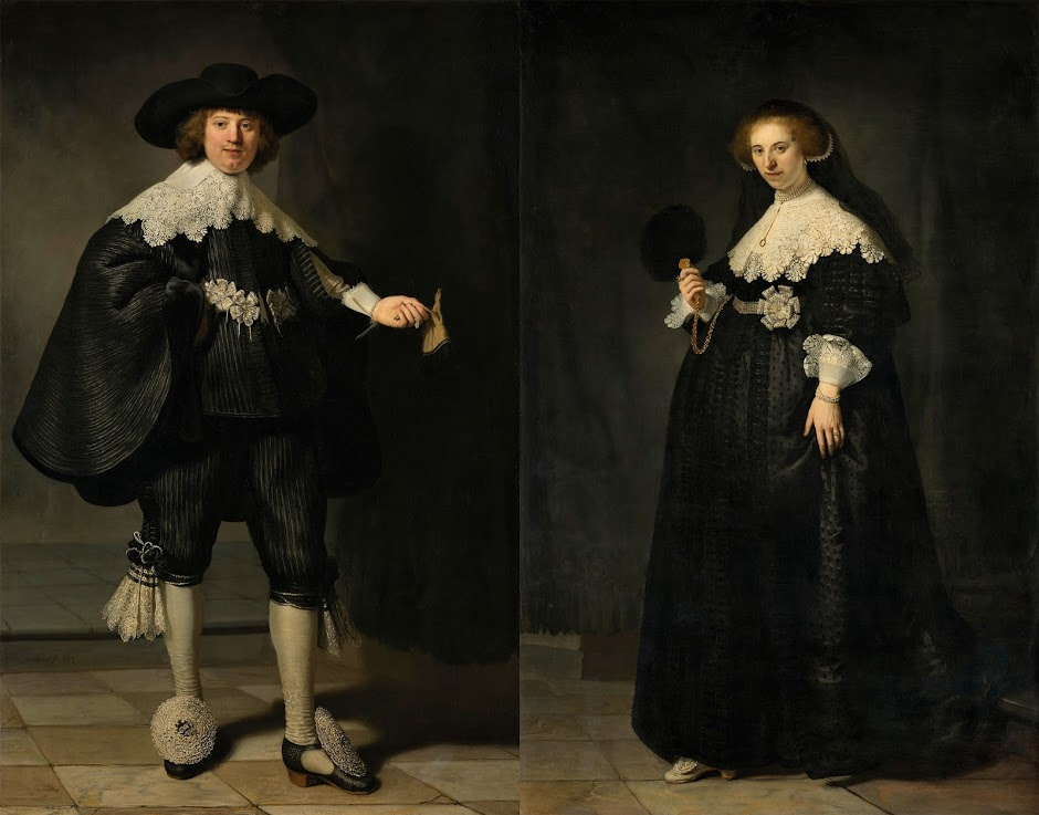 Rembrandt van Rijn (1606-1669), Portraits of Marten Soolmans and Oopjen Coppit. 1634, Oil on canvas. Joint purchase by the Kingdom of the Netherlands and the Republic of France, Rijksmuseum Collection/ Musée du Louvre Collection, 2016