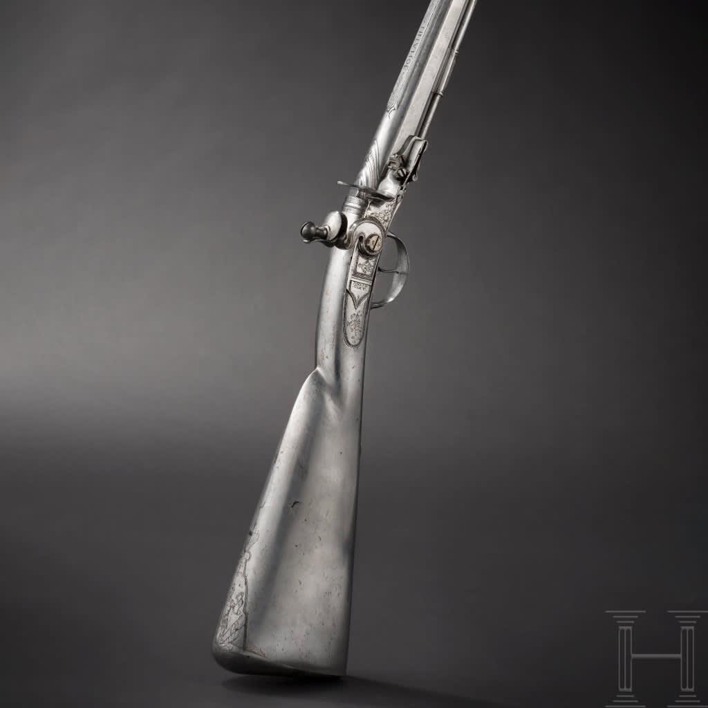 Hjullåsgevär tillverkat av Zacharias Herold runt år 1890.