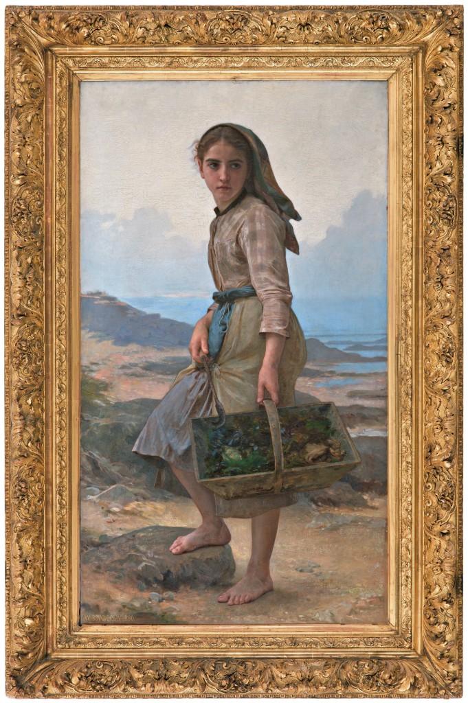 """William Bouguereau (1825-1905), """"Pêcheuse"""", huile sur toile, signée et datée 1890"""