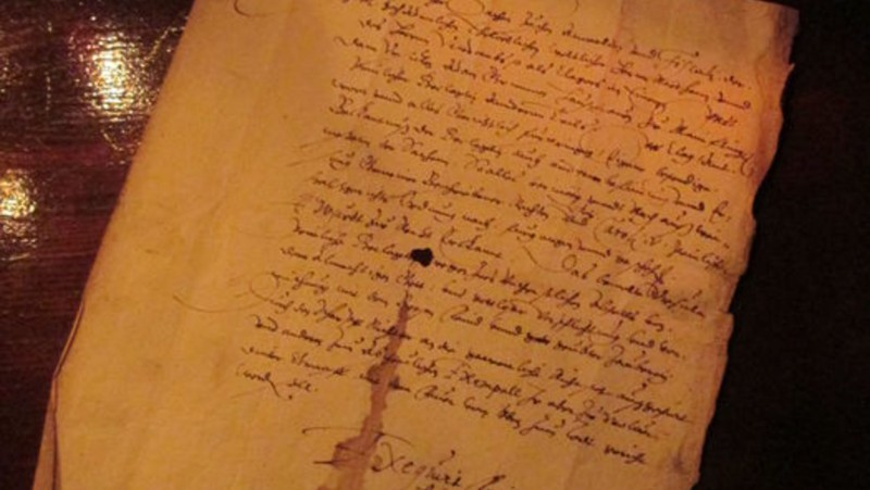Catawiki's German Witch Condemnation from 1603. Photo: Catawiki.