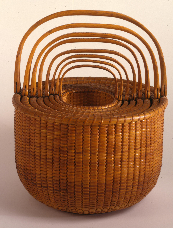 NHA_Davis Hall_Nest of Eight Nantucket Baskets