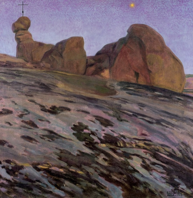 """Melancholia"", målad år 1909 av den spanska konstnären Eduardo Chicharro. Foto: Duran Arte y Subastas."