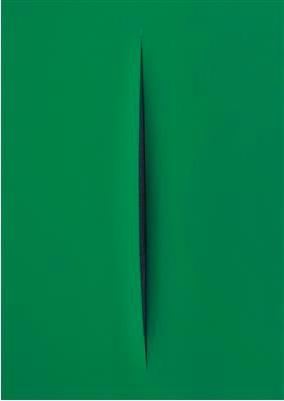 "Lucio Fontana, (1899–1968), « Concetto Spaziale"", ATTESA », 1968, image ©Dorotheum"