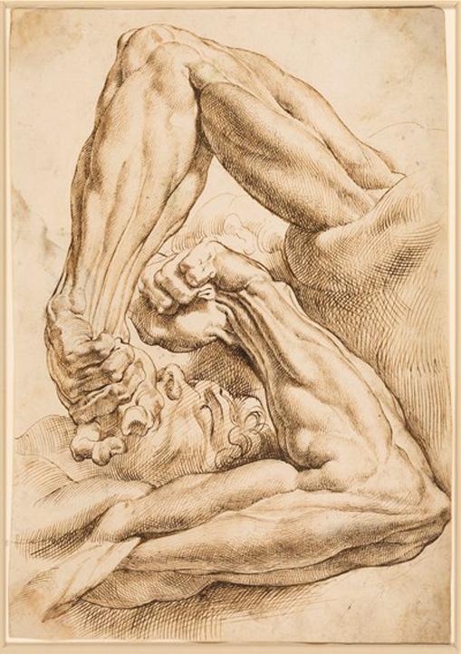Peter Paul Rubens, studie. Foto via Stephen Ongpin.