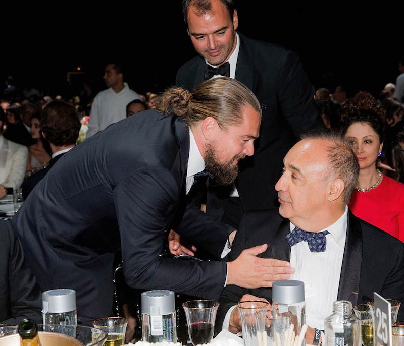 Leonardo Blavatnik and Leonardo DiCaprio attend a charity auction in Cap d'Antibes during the 2015 film festival. Photo: Kevin Tachman / amfAR15 / WireImage
