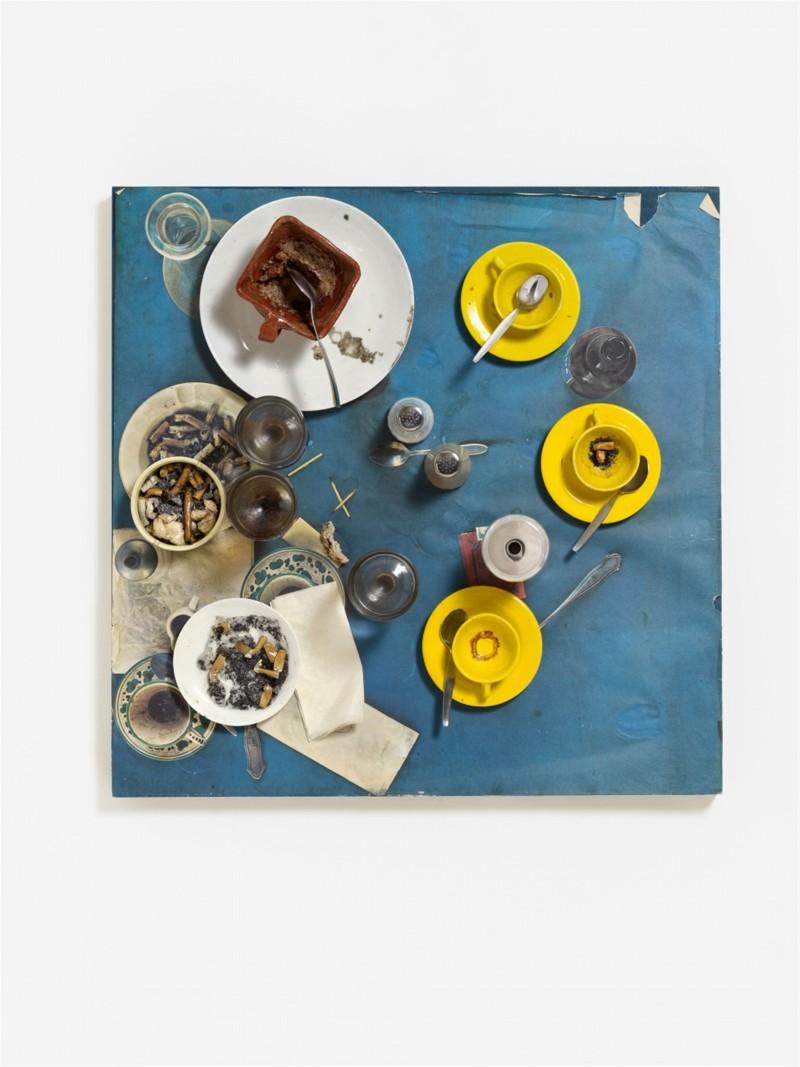 Lempertz-1102-188-The-Klaus-J-Jacobs-Collection-Daniel-Spoerri-Aktion-Rest-Tableau-Pieg